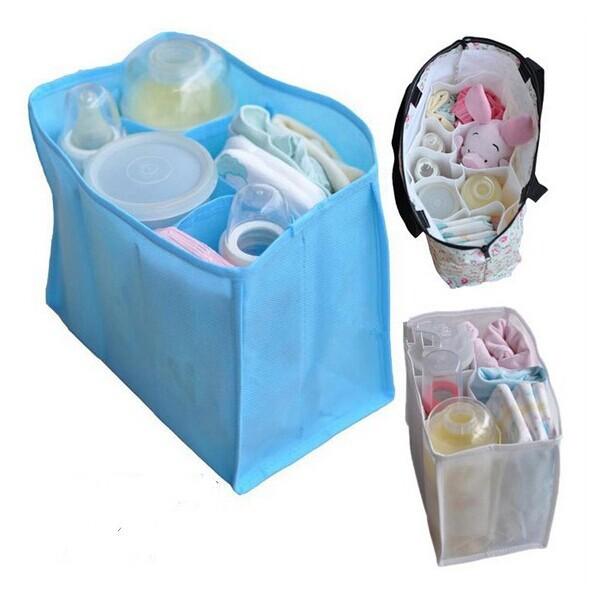 Baby Portable Diaper Nappy Water Bottle Changing Divider Storage Organizer Bag 100PCS Drop Shipping(China (Mainland))