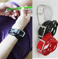 AB078 Wholesale Fashion Jewelry Leather Bracelets Simple Weaving Buckled PU Bracelets For Women