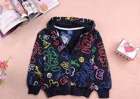 Hot sell 2015 new arrival kids coat children cartoon hooded sweater children cotton outwear retail YCZ045