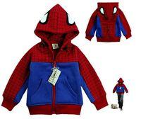2015 Autumn And Winter New Fashion Children Spider Man Coat For Boys Jacket Spiderman Outerwear Kids Hoodies YCZ020