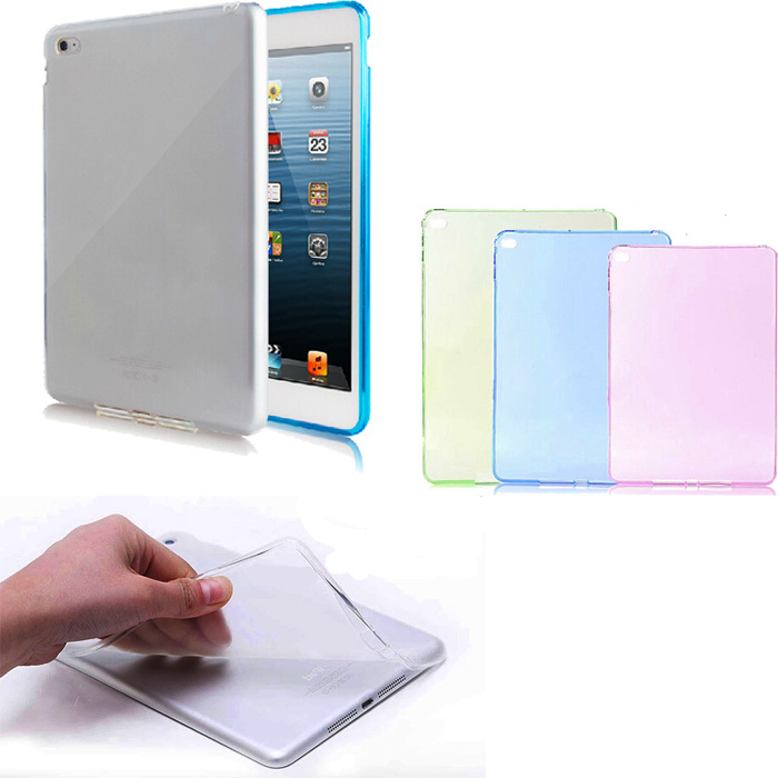 Transparent TPU Back Case Cover Silicone For iPad Air 2 2nd Gen 6(China (Mainland))