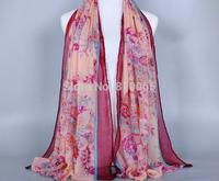 Retro cashew pattern scarf Women cotton voile long silk scarf Lady Shawl Beach Wrap Turban towel Scarf 170*80cm 3color wholesale