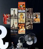 "10pcs/lot 20x30cm(8x12"") decoration iron pictures vintage wall decor iron pics home decor HD0282"