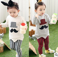 Free shipping 5pcs children clothing set girls/boys set kids cotton t-shirts+pant two pieces set fashion cartoon suit t2618