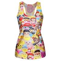 New Fashion Emoji Tank Top Fashion Summer T-shirt  Cute 3D Emoji Printed Top Vest