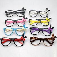 2015 New Girls Kid's Fashion Cute Chic Cartoon Hello Kitty Rabbit Shape Decorative Glasses Eyeglasses Frame without Lens