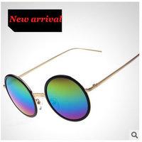 Sunglasses Women Vintage Oculos Round Mirror Glasses 2015 Fashion Metal Eyewear Alloy Frames Evoke Sports Unisex 8 Colors sg252