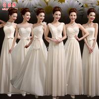 2015 Evening Dresses  formal dress thickening chiffon fashion formal dress winter champagne formal dress