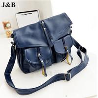 J&B! 2015 Women Messenger Bags Shoulder Bag Female PU Leather Handbag Casual Bags Bolsas Femininas Free Shipping YYJ1196