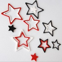 Hot Sale! Fashion Star Wall stickers Home Decoration DIY TV backdrop 3D PENTANGLE wall sticker home decor Free Shipping