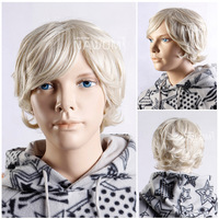 Free Shipping NAWOMI Wigs 100%KANEKALON Short Curly Blonde Hair For Children Environmental Health of High Quality W3160