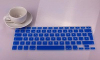New arrival Spanish letter EURO Spain Version 11colors Silicone Keyboard Cover skin For Macbook Air Pro Retina 13/15/17 Freeship
