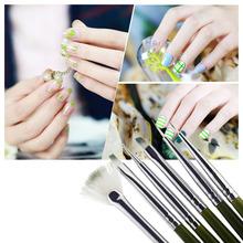 2015 Professional Green 6Pcs Nail Art Design ainting Tool Pen Polish Brush Set Kit DIY Nail Tools(China (Mainland))