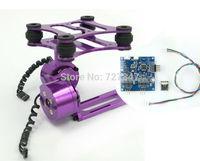 FPV 2 Axis Aluminum Brushless Gimbal Frame  ( purple ) W/ Motors & Flight controller