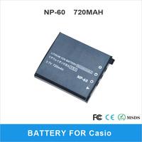Li-ion Camera Battery For Casio NP-60 720mAh Digital Camera High Quality