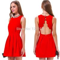 Fashion hot-selling elegant one-piece dress casual plus size vest one-piece dress