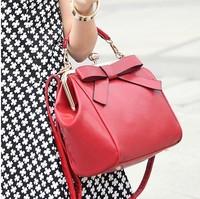 2015 vintage bow clip fashion women's handbag trend handbag messenger bag bridal bag