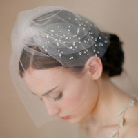 Free Shipping New Crystal High Quality Bridal Veils For Wedding Bride Headdress Face Veils BV-14