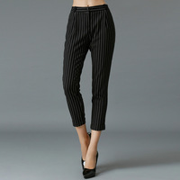 XL-5XL Brand 2015 Spring Summer Plus Size Women Pencil Pants Stripe Casual Capris  Fashion Ladies Long Trousers Big sizes XXXXL