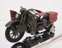 5pcs/pack Wholesale Brand New 1/12 Scale Diecast Motorcycle Toys 1942 WLA FLAT HEAD Motorbike Metal Model Toy -Free Shipping