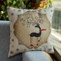 New design Home Decorative Sofa Cushion pillow cover Throw pillowcase 45*45cm dakimakura Cotton Linen Square high deer
