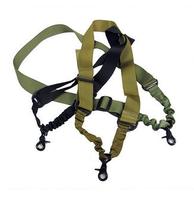 Tactical outdoor cross-body single rope double bag multifunctional suspenders rope