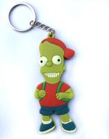 10pcs/lot The Simpsons  BART wholesale keychains key ring pendant cartoon toy gift