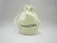 10pcs/lot , 6.5*8.5 cm,round shape,brand  jewelry beige color pouches !
