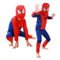 Free shipping spiderman costume superhero clothing set spider-man suit cosplay costume child spider man halloween costume BC168