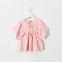 New 2015 sweet cute girls doll shirt baby girls batwing-sleeved blouse  6pcs/lot