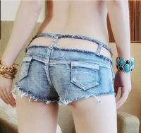 2015 NEW Summer women's Tides Denim Shorts Sexy club low waist shorts hot pants Jeans short Pants