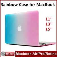 New arrival Rainbow Case Cover For Apple Macbook Air/Pro/Retina  11.6/13.3 inch  / For Macbook 11''13''15'' inch Free Shipping