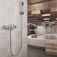 Shower Set Bathroom Good Quality Thermostatic 8 inch Rainfall Shower Head 53931 Bath Tub Shower Water Tap Faucets,Mixers & Taps