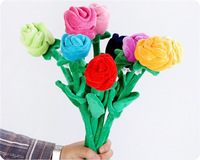 Free shipping Plush Roses One Peice Retail Valentine's day creative surprise gifts wedding party holiday bouquets supply