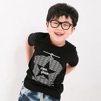 Boys T shirts Clothes Summer Letter Printed Children's Short Sleeve T-shirt Top Casual O-neck Kids Tee Roupas Meninos ASU-2510