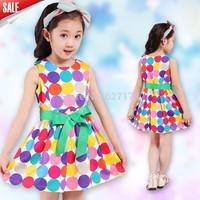 Retail princess 2015 summer 1pcs baby girls dancing clothing princess children tutu kids dress 3~12age