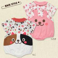 hot sale  2015 new children's clothing girls fancy cartoon casual Rabbit  cat classic Romper baby jumpsuits
