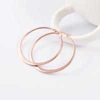 2015 Hot Sale Fashion 18k Rose Gold / Silver /Gold Punk Earrings 316L Stainless Steel Piercing Hoop Earrings for Women Jewelry