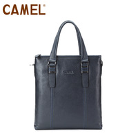 CAMEL new arrival 2015 casual cow leather bussiness men's handbag high quality navy blue messenger bags