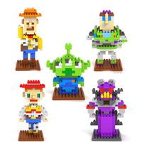 LOZ Toy Story Woody Buzz Lightyear Alien Jessie Zurg figure building Blocks Diamond bricks Toy Child gift 5styles free shipping