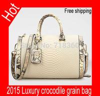 Free shipping Luxury shoulder bag women's Messenger Bag genuine leather handbag 2015 bag high quality simple casual bag