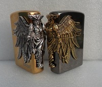 wholesale 3pcs/lot new style windproof brand lighter ziipppoi Gold ice/black ice Female soldiers