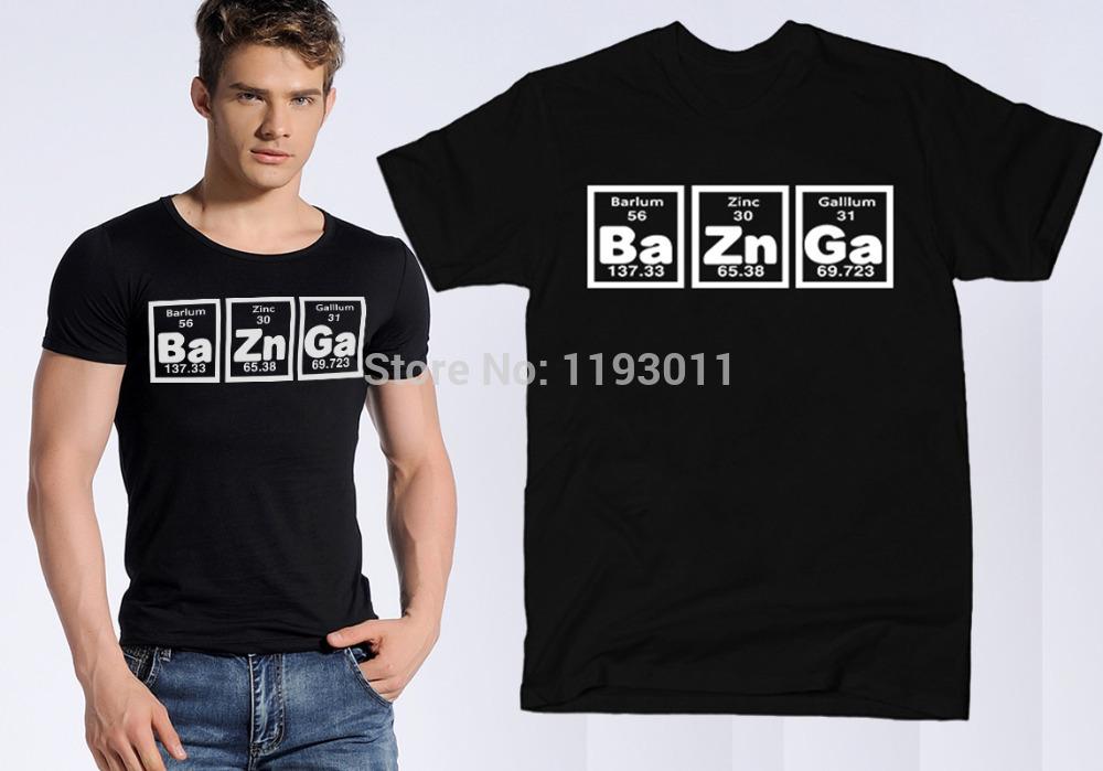 Мужская футболка Custom shirts Tee Bazinga o men tee shirts