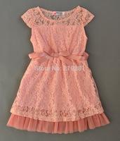 2015 Girl's summer lace bow tutu dress , costume for girls , girls party dresses , 5pcs/lot   HPF01
