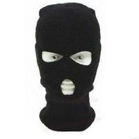 2015 3 pcs Cool Motorcycle Bike Cycling Racing Windbreak Hat Cap 3 Holes Face Mask Shield Black