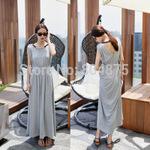 2015 Modal Plus Size Smoke Hanging Neck Rope Posed Dress Sleeveless Vest Beach Dress d1503