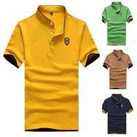 polo Ralph men 2015 Summer New camisa polo shirts Men printed knit cotton stand collar Tops & Tees M-5XL camisa polo masculina