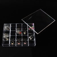 Wholesale High Quality Clear View Plastic Jewellery Beads Box Compartment Storage Box 20 Compartments