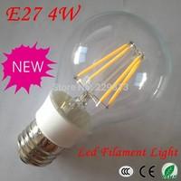 5pcs* Free shipping Led Lamp E27 110V/220V 4W 6W 8W Filament Led Bulb E27 360 Degree 900Lm Warm White Led Energy Saving Light