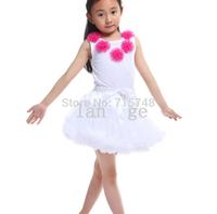 2pcs Fashion baby girl kids clothes set Girls pettiskirt tutu skirt set Rosettes top Princess Birthday set Christmas X mas gift